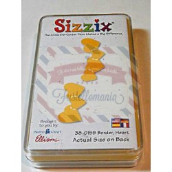 Fustella Sizzix Originals Yellow Cuori bordati