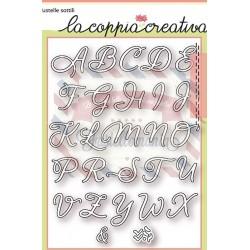 Fustella metallica Alfabeto corsivo maiuscolo