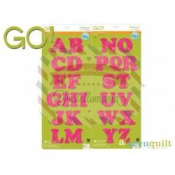 Fustella Accuquilt GO Alphabet Set Alfabeto MAXI