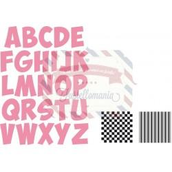 Fustella metallica Marianne Design Collectables Alfabeto
