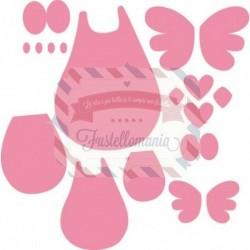 Fustella metallica Marianne Design Collectables Famili Owl Gufo