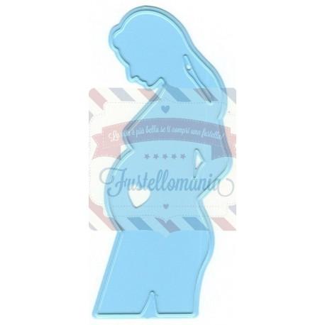 Fustella metallica Marianne Design Creatables Pregnant