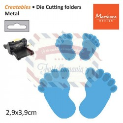 Fustella metallica Marianne Design Creatables Feet