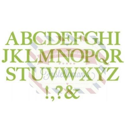 Fustella Sizzix Serif Essential Alfabeto