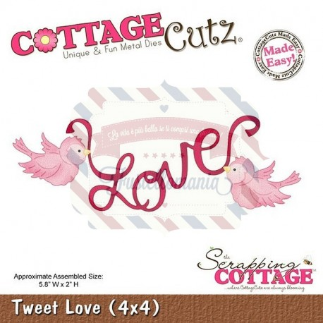 Fustella metallica Cottage Cutz Tweet Love