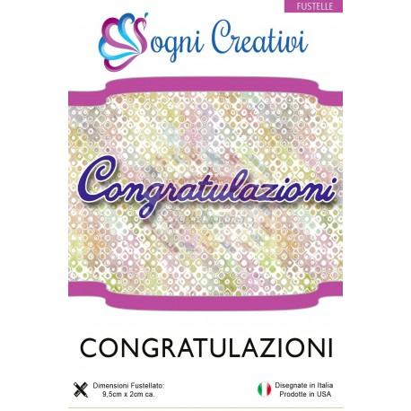 Fustella metallica sottile Congratulazioni