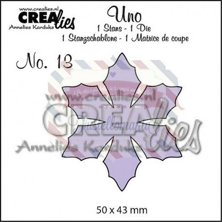 Fustella metallica Crealies Uno Flower 9