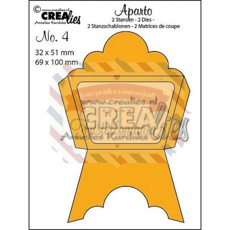 Fustella metallica Crealies Mini message 4