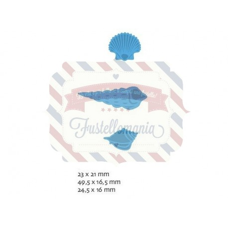 Fustella metallica Marianne Design Creatables Sea Shell