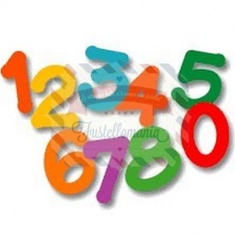 Fustella Sizzix Lollipop Number Set