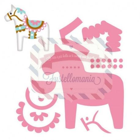 Fustella metallica Marianne Design Collectables Eline's dala horse