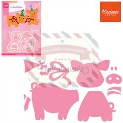 Fustella metallica Marianne Design Collectables Eline's piglet