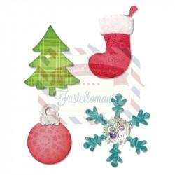 Fustella Sizzix Bigz Albero di Natale e Fiocco di neve