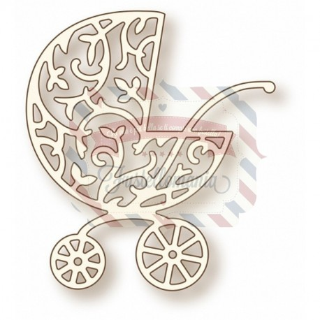 Fustella metallica Ornate Pram