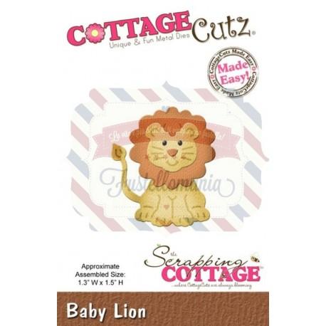 Fustella metallica Cottage Cutz Baby Lion