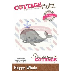 Fustella metallica Cottage Cutz Happy Whale