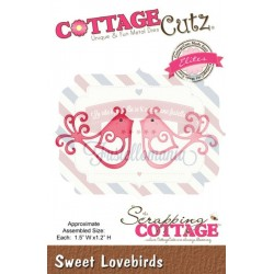 Fustella metallica Cottage Cutz Sweet Lovebirds