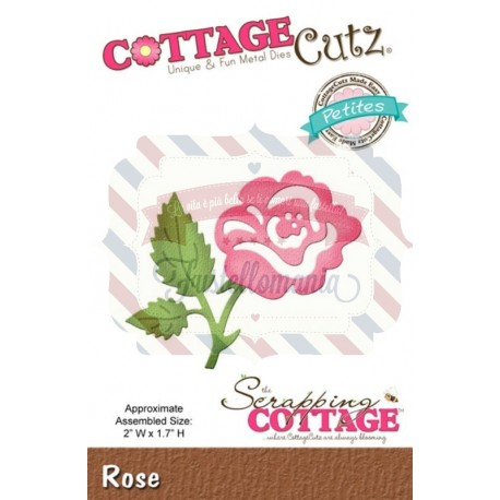 Fustella metallica Cottage Cutz Rose