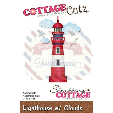Fustella metallica Cottage Cutz Lighthouse with clouds