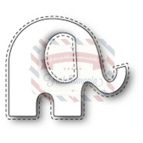 Fustella metallica PoppyStamps Stitched Elephant