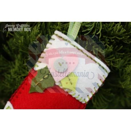 Fustella metallica Memory Box Plush Holly Leaves and Berries