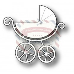 Fustella metallica PoppyStamps Sweet Baby carriage