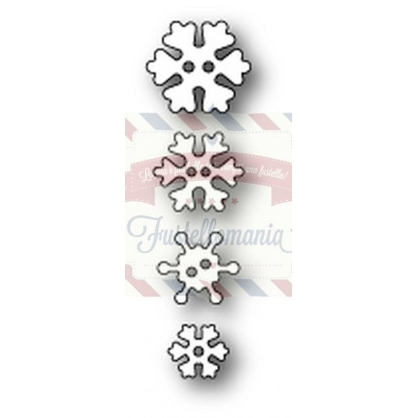 Fustella metallica PoppyStamps Frosty Snowflake Buttons
