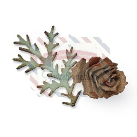 Fustella Sizzix Bigz Tattered pinecone