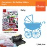 Fustella metallica Marianne Design Catables Eline Baby carriage