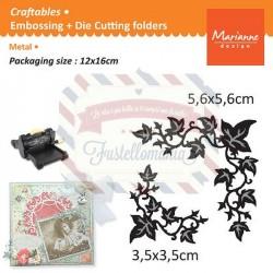 Fustella metallica Marianne Design Craftables Ivy corner