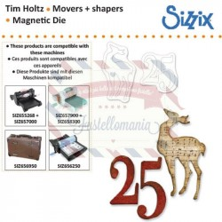 Fustella Sizzix Movers & Shapers Renna