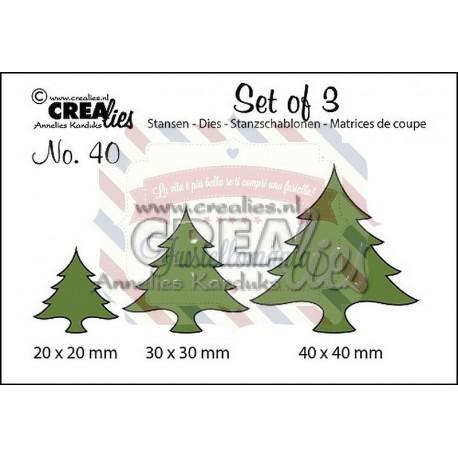 Fustella metallica Crealies Set of 3 nr 40