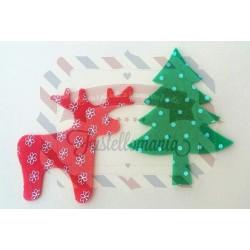 Fustella Albero di Natale e Renna di Babbo Natale