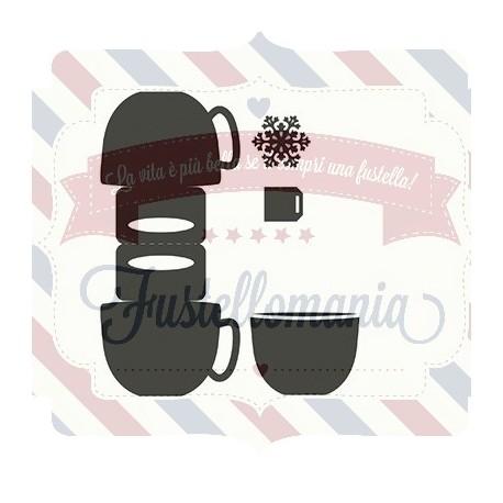 Fustella metallica Marianne Design Bag topper mug
