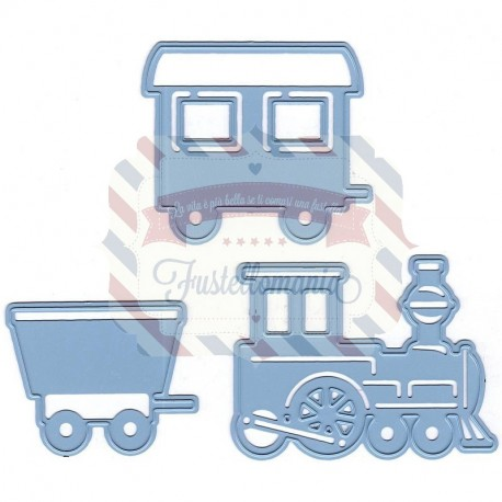 Fustella metallica Marianne Design Creatables Train