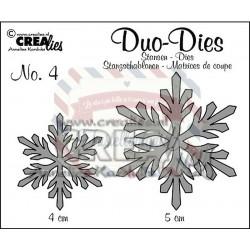 Fustella metallica Crealies Duo dies Snowflakes 4
