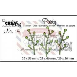 Fustella metallica Crealies Partz 14