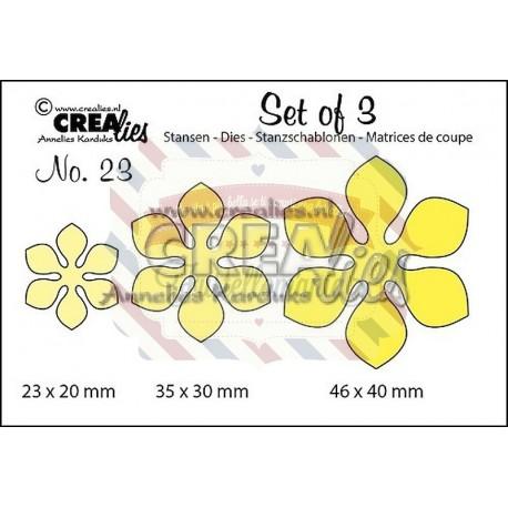 Fustella metallica Crealies Set of 3 nr 23