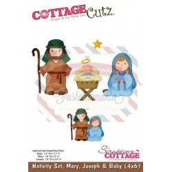 Fustella metallica Cottage Cutz Nativity Set
