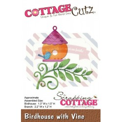 Fustella metallica Cottage Cutz Birdhouse with vine