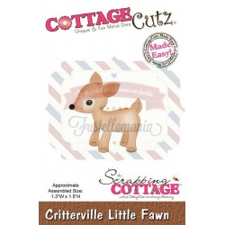 Fustella metallica Cottage Cutz Critterville Little Fawn