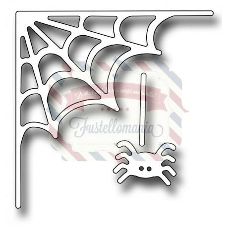 Fustella metallica Spiderweb corner