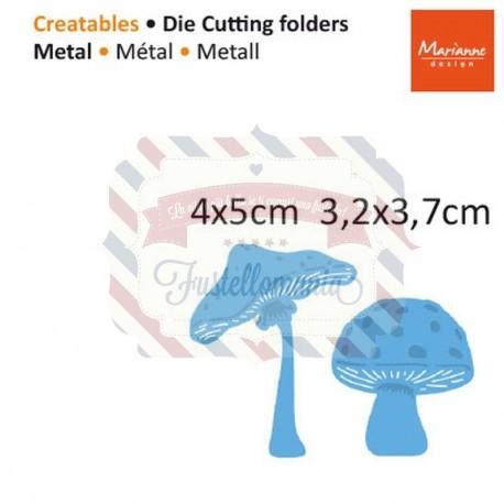 Fustella metallica Marianne Design Creatables Mushrooms
