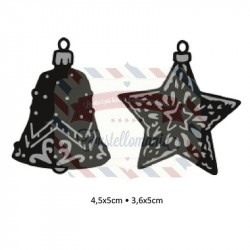 Fustella metallica Marianne Design Craftables Tiny's ornaments star & bell