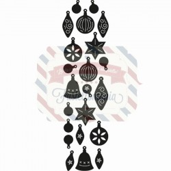 Fustella metallica Marianne Design Craftables Punch die Christmas tree