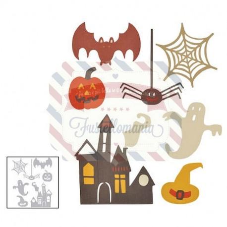 Fustella Sizzix Thinlits spooky halloween