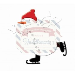 Fustella metallica Pupazzo di neve con pattini