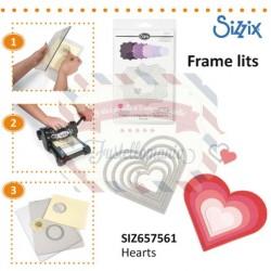 Fustella Sizzix Framelits Hearts