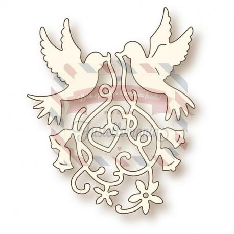 Fustella metallica Doves in Love