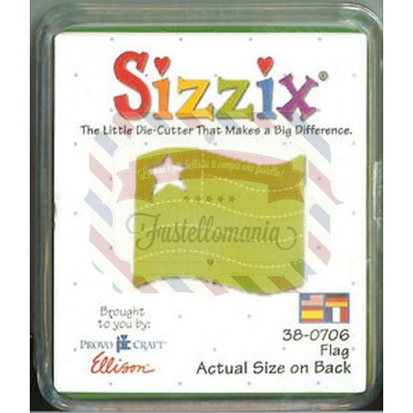 Fustella Sizzix Originals Green Flag